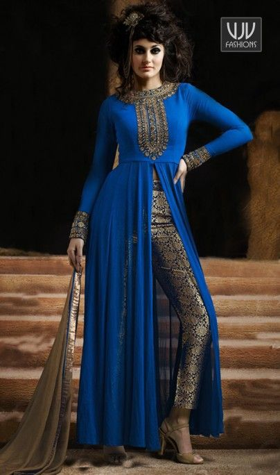 Extraordinary Blue, Red, Turquoise, Pink and Black Designer And Party Wear Salwar Suit Add a vibrant burst of colour with your wardrobe with this Extraordinary Blue, Red, Turquoise, Pink and Black Designer And Party Wear Salwar Suit. Look ravishing clad in such a attire which is enhanced embroidered and resham work
