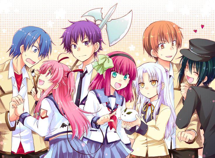 ANGEL BEATS! --> Hinata Hideki, Yui, Noda, Yuri Nakamura, Kanade Tachibana, Yuzuru Otonashi & Naoi Ayato