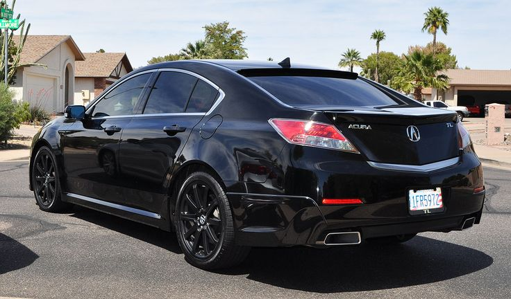 Black Acura TL 4