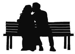 ♔ COUPLE KISS PARK BENCH SVG #CRICUT, #CRICUTEXPLORE