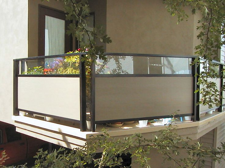 Aluminum Deck Railings With Privacy Hardie Board Panels In