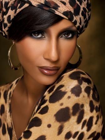 Iman Abdulmajid in Leopard Print