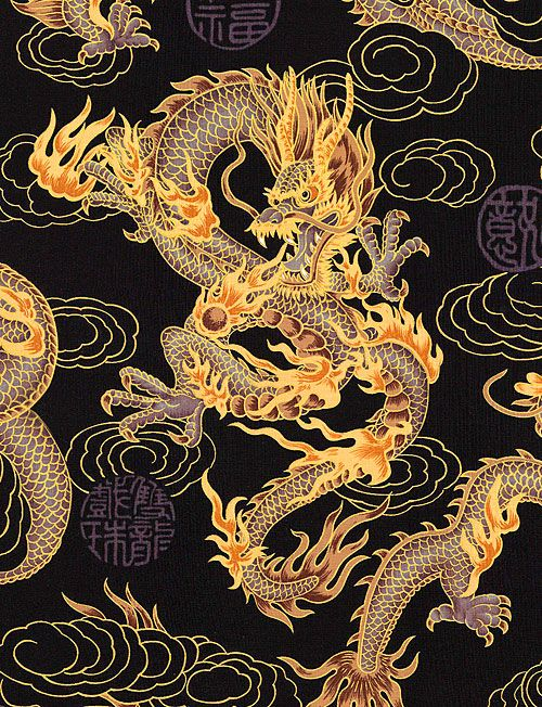 Elemental Dragon - Black/Gold