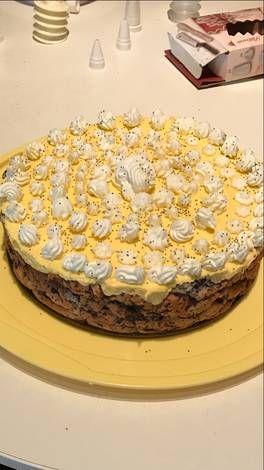 Mákos guba torta madártej krémmel