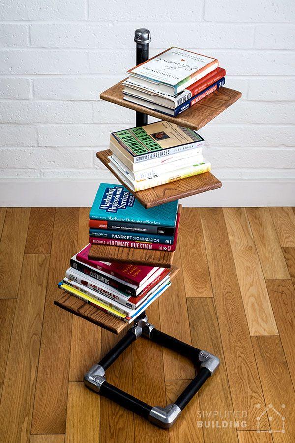 518 best industrial pipe shelves images on pinterest for Build your own bookshelves plans