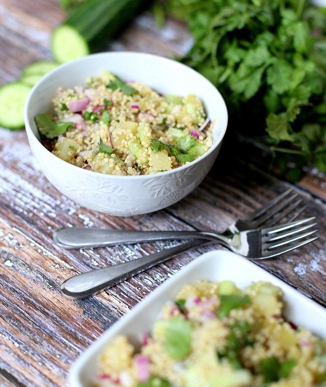 Cold Quinoa Salad - Only 133 Calories