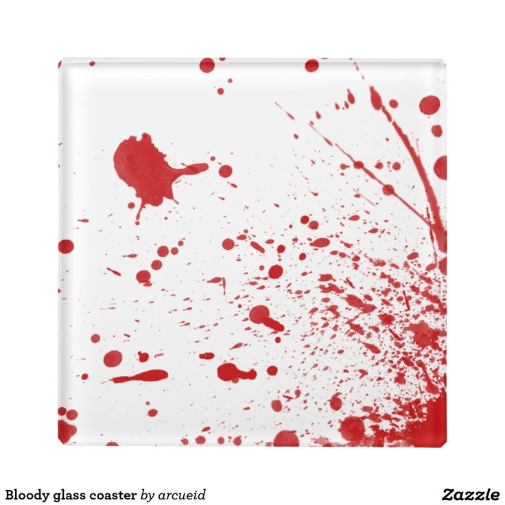 Bloody glass coaster