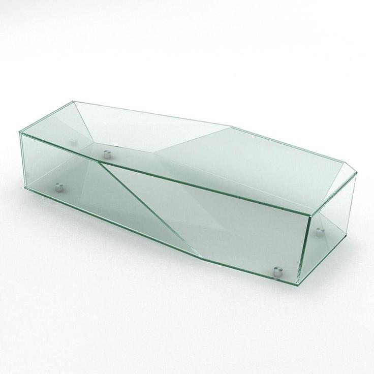 Merveilleux Aperture Long Glass Coffee Table