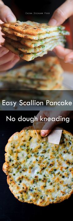 #scallion #pancake Ingredients 2 cups all-purpose flour (measure after shifting) 420-440 ml wateraround 1 cup finely chopped scallion (wash and drain well)pinch of salt as needed1/8 teaspoon Chinese five spice powder (optional)vegetable oil for frying