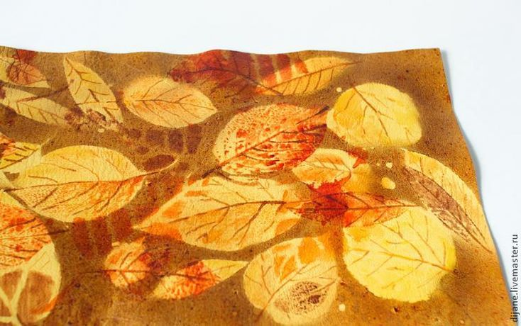 Краски осени: делаем принт на коже - Ярмарка Мастеров - ручная работа, handmade