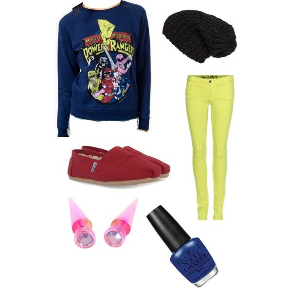 Mighty Morphin Power Rangers scene/indie scene outfit