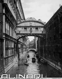 The Bridge of Sighs in Venice designed by Antonio Contin