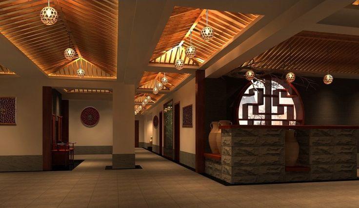 Modern chinese restaurant interior design idea