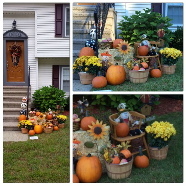 Outdoor Fall Display. Outdoor Fall Decor. Outdoor Fall