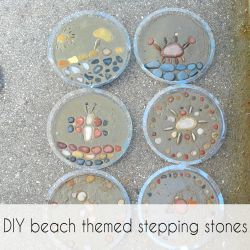 Diy Beach Stepping Stones Bring The To Your Yard With These Adorable Themed From Crazydiymom