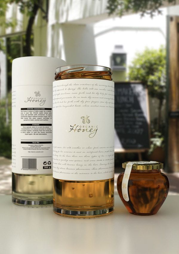 Beautiful #organic #honey #packaging concept by Marcel Buerkle, via Behance PD