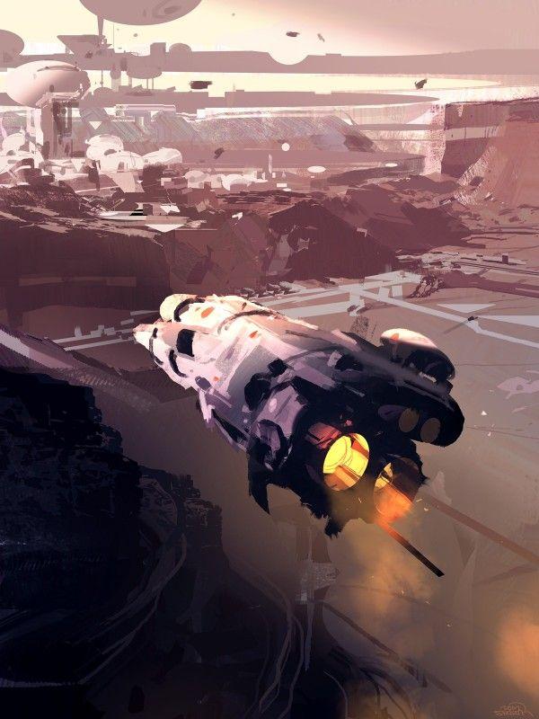 Les mondes de science fiction de Sparth illustration science fiction 03 600x800