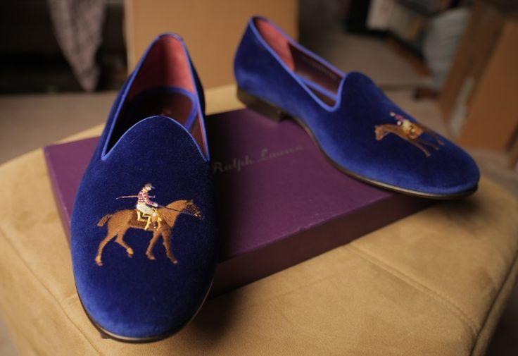 Ralph Lauren velvet slippers