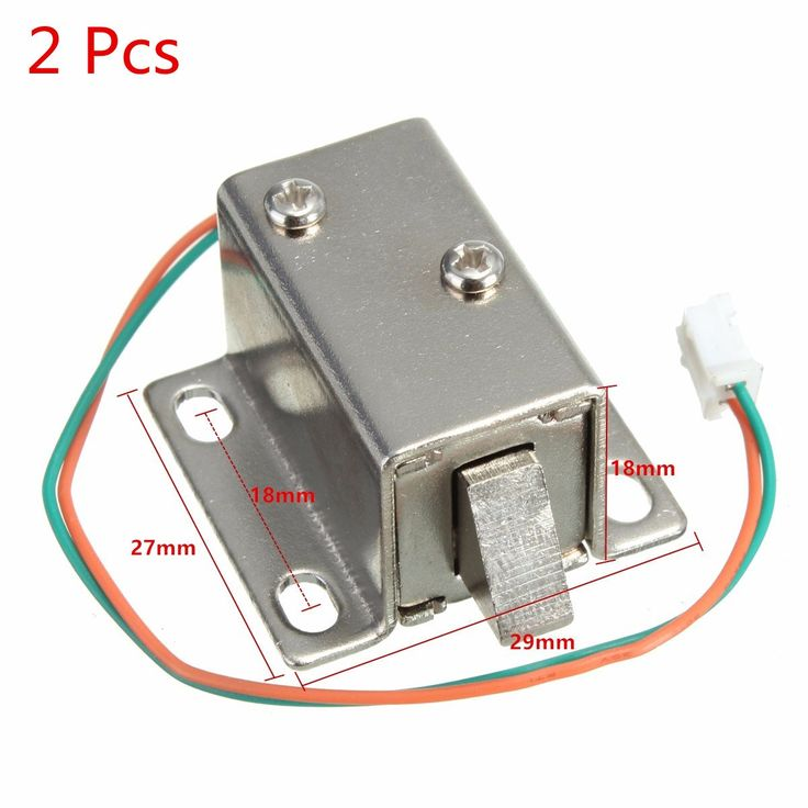 New Arrival Best Promotion Small 27x29x18mm 12VDC Cabinet Door Drawer Electric Lock Assembly Solenoid Lock Durable in Use