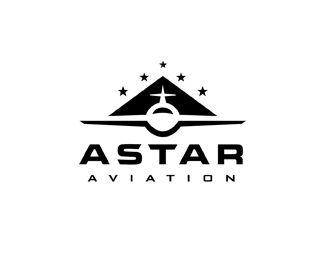 ASTAR Aviation Logo Design   More logos http://blog.logoswish.com/category/logo-inspiration-gallery/ #logo #design #inspiration