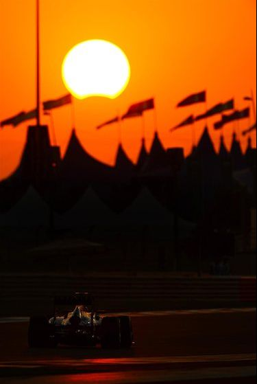 Solar eclipse during the Abu Dabi Grand Prix. No one seemed to recognize it at such.