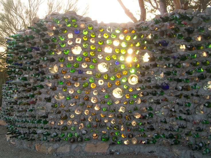 The Bottle Wall At East Jesus Near Slab City Outside Niland CA