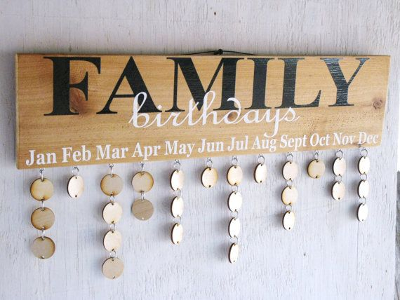 Family Birthday Sign Reclaimed Wood by TallahatchieDesigns