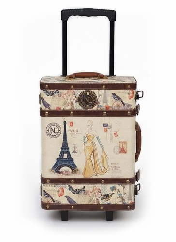 vintage inspired suitcase