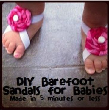 DIY Barefoot Baby Sandals  ~~ These are SO ADORABLE AND .... there are even more styles  on this link .. So Mom's & Grandma's get busy .. ~~
