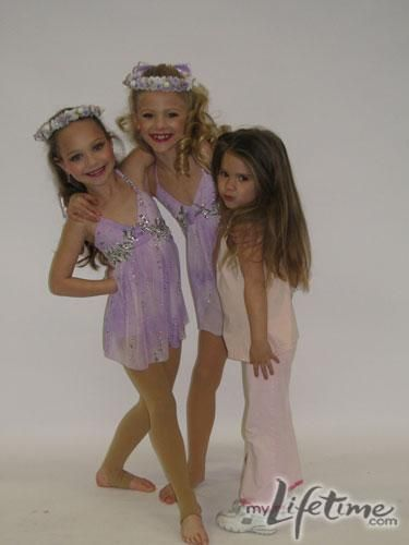 "Mackenzie with Maddie and Paige on ""Dance Moms"". #Friends"