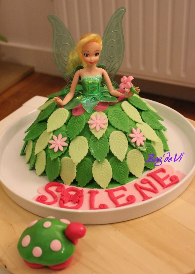 tinker bell birthday cake g teau d 39 anniversaire f e clochette the vi cake factory. Black Bedroom Furniture Sets. Home Design Ideas