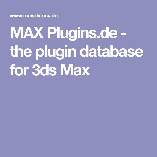 MAX Plugins.de - the plugin database for 3ds Max