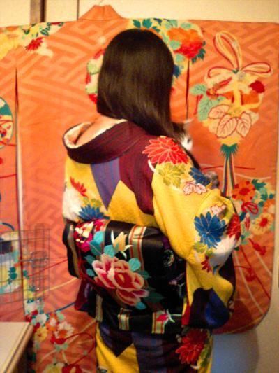アンティーク着物で美術館。 :: ◆ て ふ て ふ 手 帖 ◆|yaplog!(ヤプログ!)byGMO