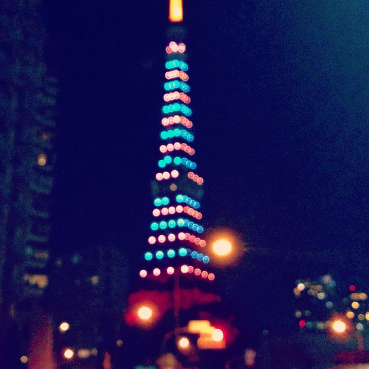 Colorful Tokyo tower, Dec2014