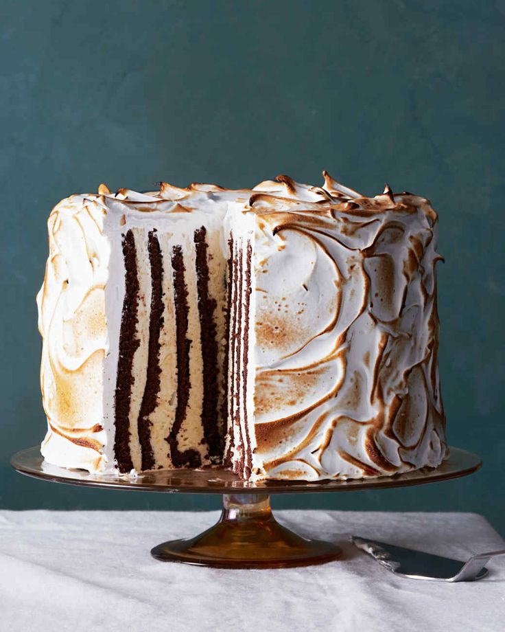 Looking for a dessert to impress? This extravagant cake features layers of genoise alternated with a nutmeg-and-rum-scented semifreddo -- and yes, the layers are vertical!