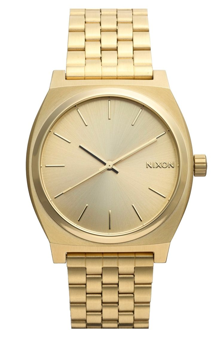 A sleek gold Nixon watch that any guy would get excited about.