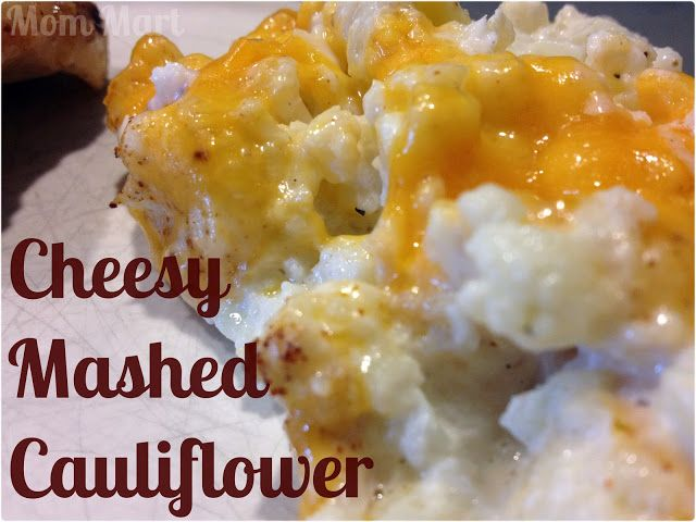 Cheesy Mashed Cauliflower recipe. Not a huge fan of cauliflower, but this looks yummy!