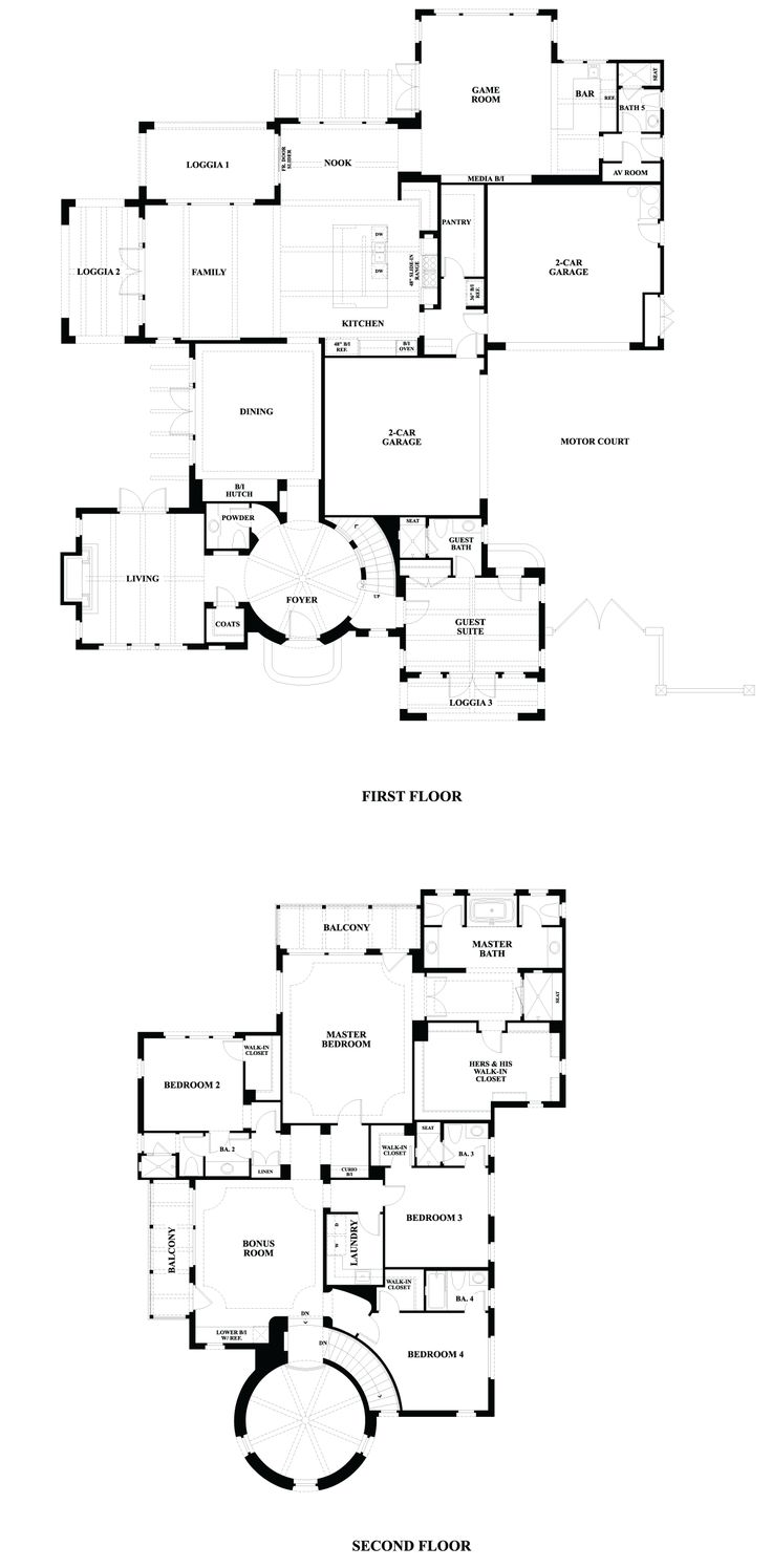 658 Best Plans Images On Pinterest Floor Plans Mansions And Part 25