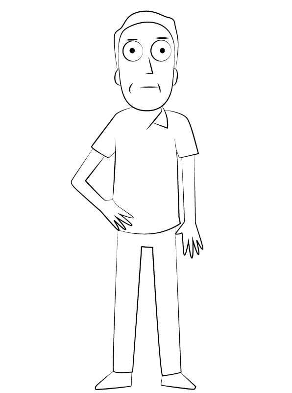 Rick And Morty Coloring Pages Printable Rick Morty Image Rick