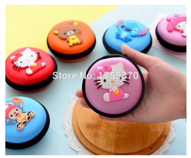 Cute Cartoon Candy Color Silicone Coin Purse Key Wallet Earphone Organizer Storage Box #men, #hats, #watches, #belts, #fashion, #style