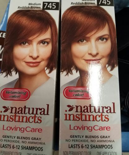 Hair Color: 2 Boxes New Clairol Natural Instincts Loving Care - Medium Reddish Brown 745 -> BUY IT NOW ONLY: $80.0 on eBay!