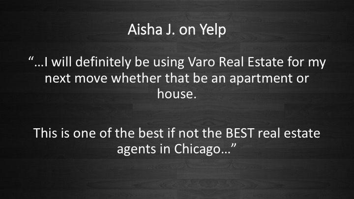 People love us on Yelp! #RealEstate #Realtor #Chicago #VaroRealEstate #ForRent #Rental #Apartments #Houses #Renting
