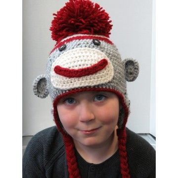 'Chip' the Sock Monkey Hat