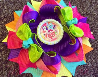 My Little Pony Hair Bow /My little Pony by DLovelyBOWtique on Etsy