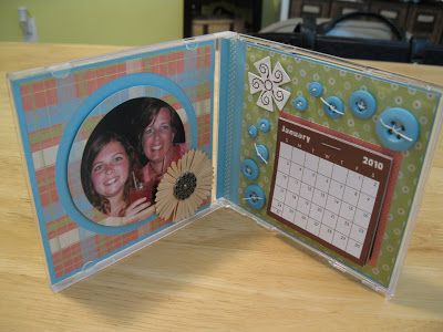 Jolene's Paper Trail: CD Case Calendar/Photo Frame