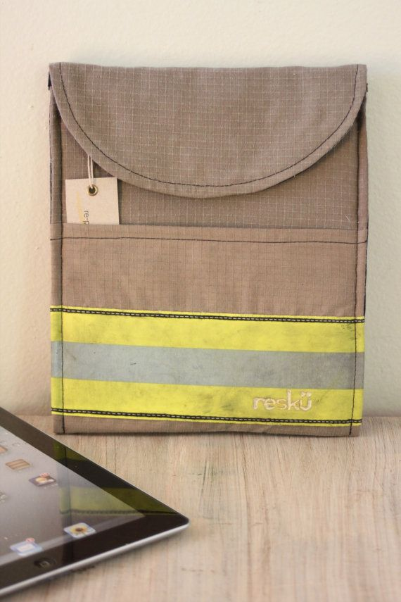 Ipad Cover Recycled Firefighter Turnout  Reclaimed by Reskugear, $89.00
