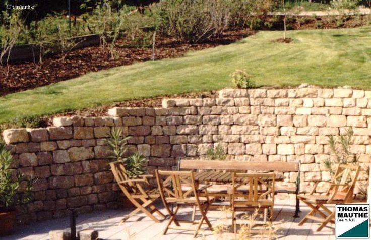 steinmauer | garten | pinterest, Garten und Bauen