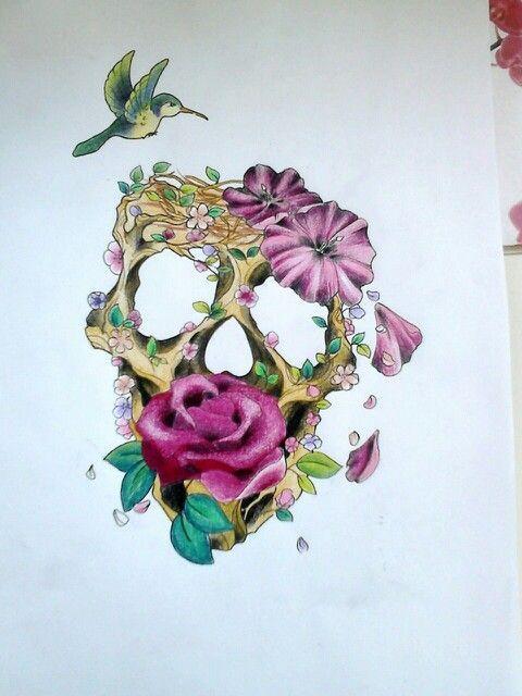 I Love Skull Art