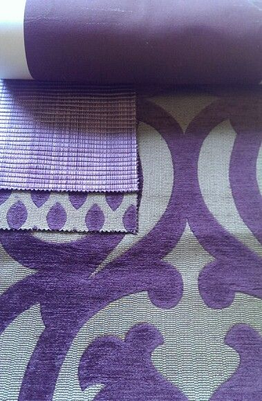 Vivaldi purple Roman blind