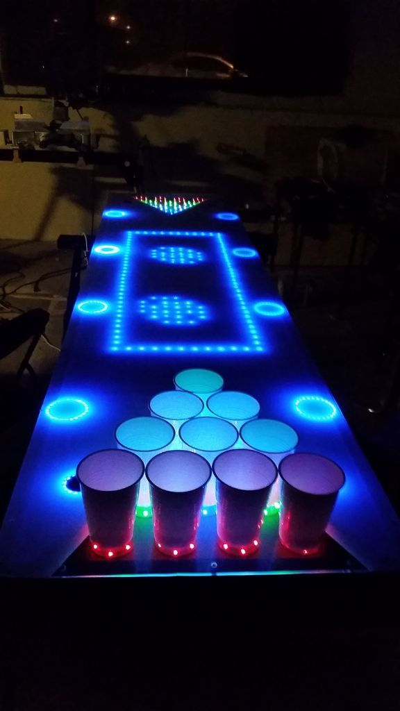 Instructables: Interactive LED Beer Pong Table 2.0 (BPT X5)